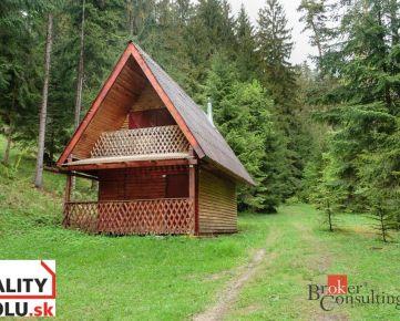 Útulná chata v rozprávkovom lese v Liskovej na predaj