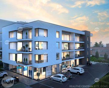 REZERVÁCIA (NP4) Predaj nebytových priestorov o výmere 66,84m2 v projekte RUDNAY RESIDENCE, Cena: 120.166€ bez DPH