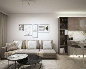 NOVÉ ZLATOVCE - 1-izbový byt B2.7, 47 m2, balkón, 2. poschodie/4., NOVOSTAVBA