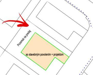 Predaj pozemku v Kvetoslavove so stavebným povolením+projektom, ul. Tulipánová