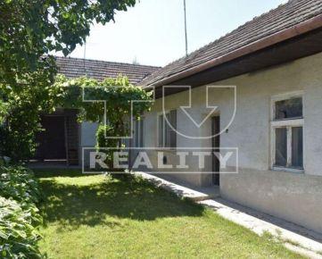 Starší rodinný dom, pozemok 1227m2 končiaci potokom, Horná Krupá, okr. Trnava, CENA: 70 000,00 EUR