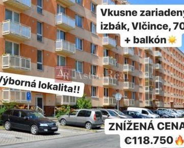 PREDAJ: 2-izbový byt, Vlčince, 70 m2 + balkón, Žilina