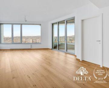 DELTA | SKY PARK - Exkluzívna kancelária s panoramatickým výhľadom na 26. poschodí, 91 m2, Staré Mesto