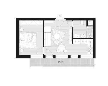 Slnečný 1-izbový byt Bratislava - Petržalka