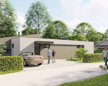 """Exluzívne ponúkame nekatalógový nízkoenergetický rodinný dom z dieľne architektov v lukratívnej štvrti """"Tri Vody""""."""