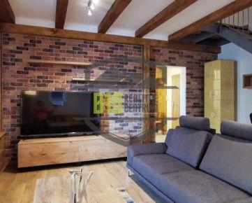 CENTRUM MESTA - mezonetový 2 izbový byt - 76m2 - Za mlynmi - Možnosť VIDEOOBHLIADOK