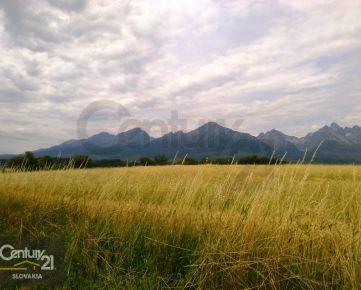 Pozemky pre investičné zámery s výhľadom na Vysoké Tatry