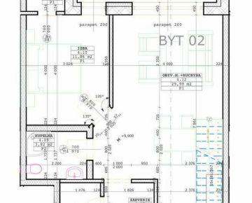 Predáme novostavbu 3+kk mezonetového bytu, Bytča - centrum, R2 SK.